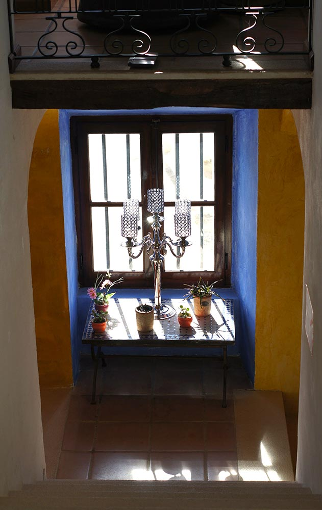 A window of the restored Manor House