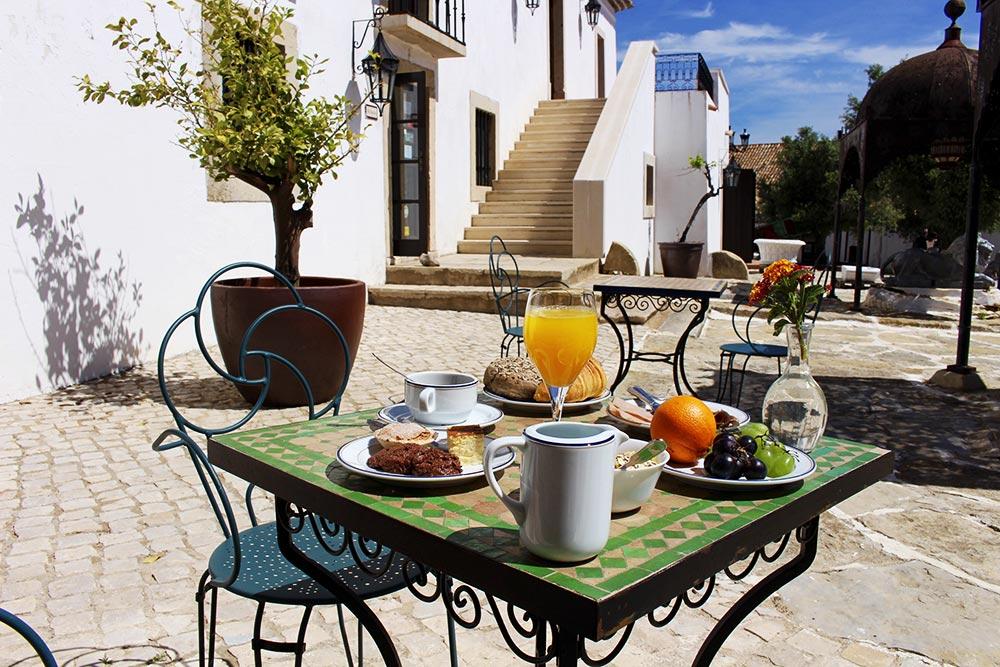 Breakfast table outside