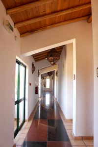 Corridor that leads to rooms