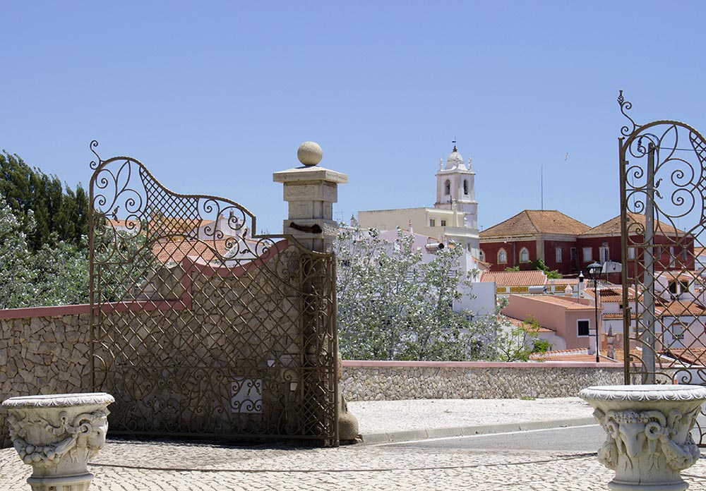 View on the small town of Alcantarilha from the Hotel entrance