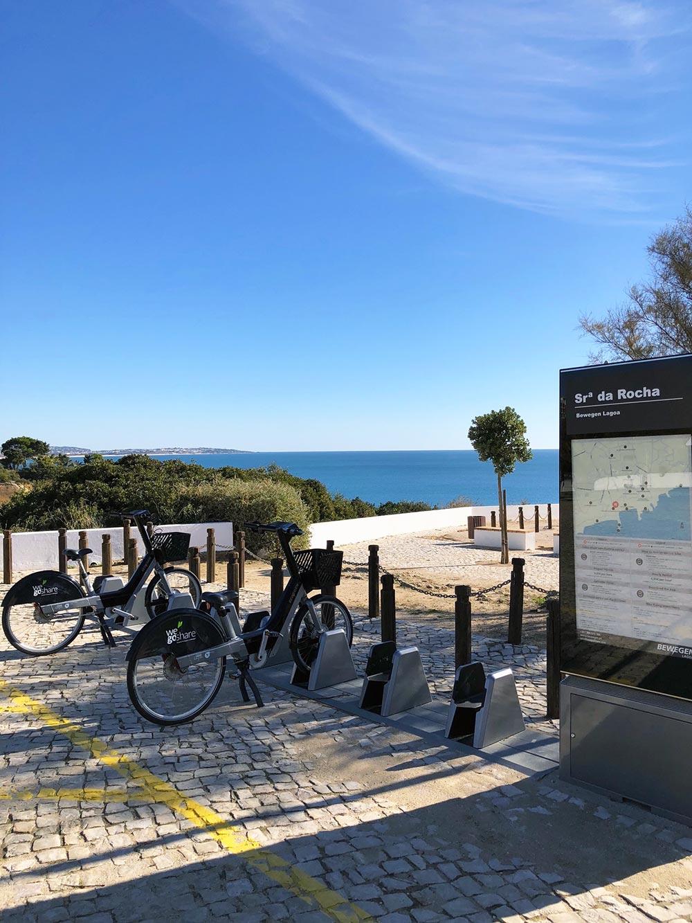 Bike rental at Senhora da Rocha beach